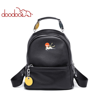 DOODOO Brand Fashion Backpack Women Backpack Female Backpack Pu Leather Backpack Multifunction Travel Backpack Solid Color 2020 фото