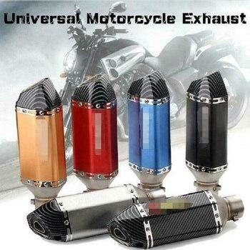 Silenciador de tubo de Escape para motocicleta, de 51MM Universal de fibra de carbono, silenciador DB Killer de 310mm