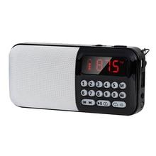 Стерео для пожилых людей, домашний подарок, мини mp3-плеер на батарейках, fm-радио, цифровой дисплей, TF слот для карт, usb зарядка, портативный динамик