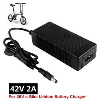 36V 2A battery charger Output 42V 2A Charger Input 100-240 VAC Lithium Li-ion Li-poly Charger For 10Series 36V Electric Bike conhismotor ebike 5a lithium battery charger for 48v electric bicycle battery 54 6v output voltage 100 240v input voltage