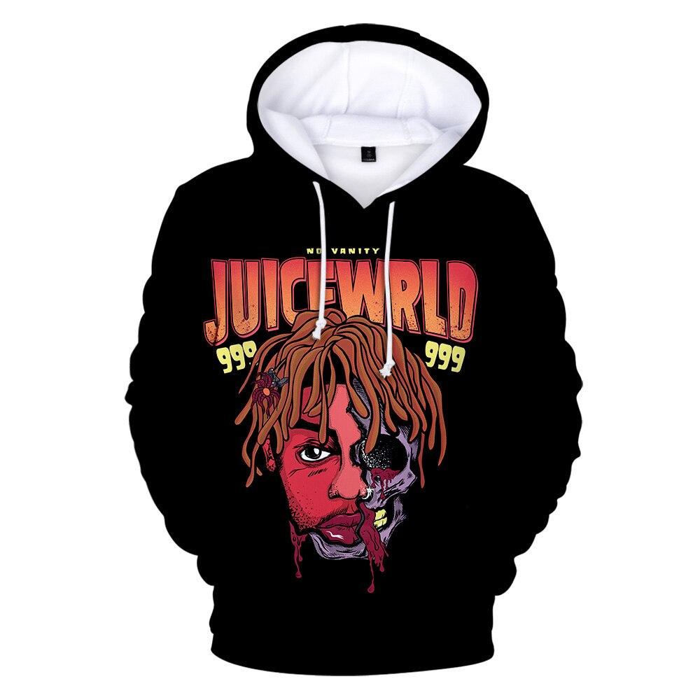 Juice Wrld 3D Hoodies Men Women New Fashion Popular Hoodie Juice Wrld 3D Print Hoodie Hip Hop Streetwear Pullovers Sweatshirts
