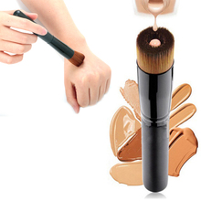 1 Pcs Hout Vloeibare Foundation Make-Up Borstel Vrouwen Professionele Blush Power Zachte Nylon Haar Cosmetica Tool