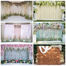 Laeacco Photography Backdrops Wedding Photo Backgrounds Floral Curtain Grass Wall Bridal Shower Photocall For Photo Studio Props