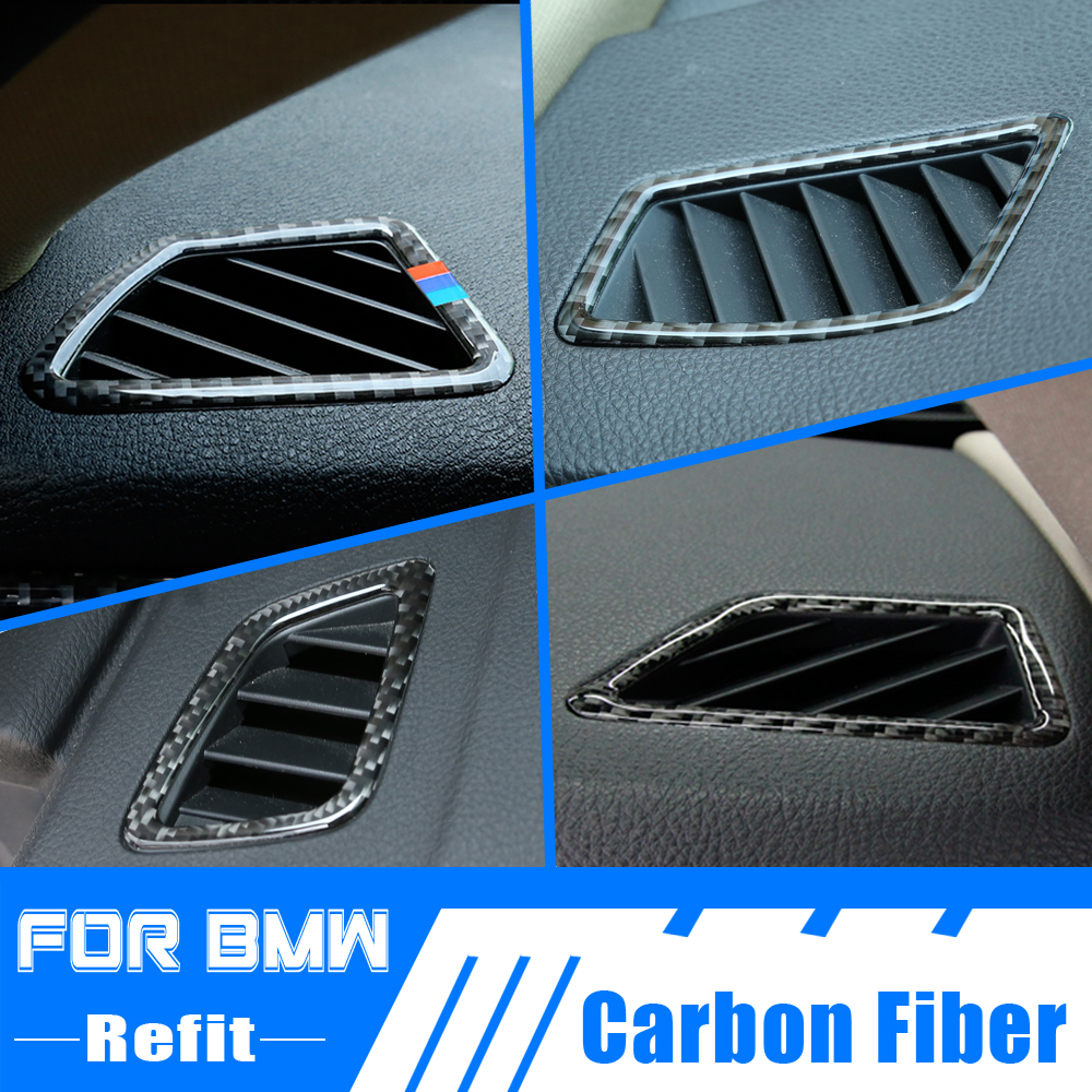 Carbon Fiber <font><b>Interior</b></font> Air Conditioning Outlet Vent Cover <font><b>Trim</b></font> For <font><b>BMW</b></font> 1 3 Series F20 F21 GT F30 E92 E93 E84 X1 X5 X6 <font><b>E70</b></font> E71 image