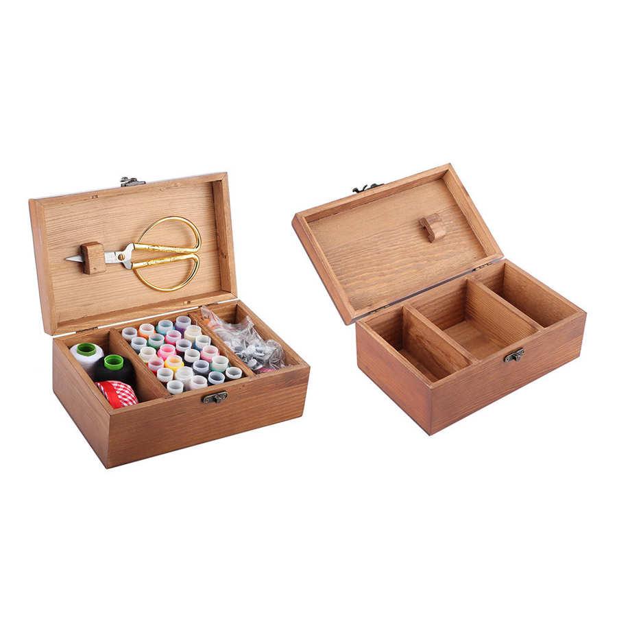 1* Wooden Sewing Toothpick Needle Organizer Storage Holder Box DIY Storage T0L2