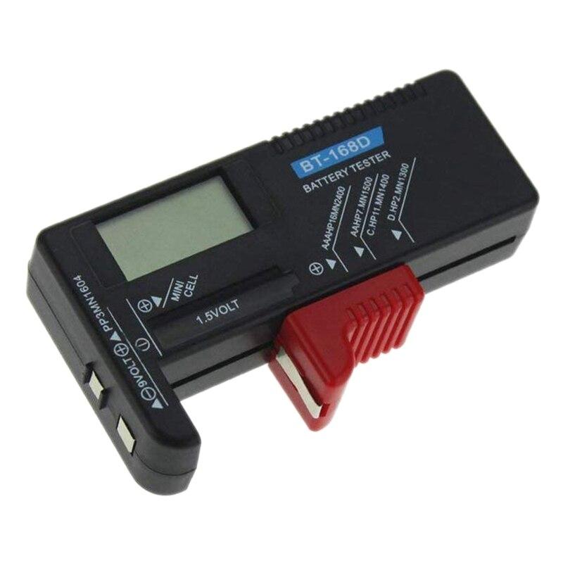 BT-168D цифровой тестер батареи детектор емкость диагностический инструмент Вольт проверки для Aaa Aa C D 9V 1,5 V кнопка сотового аккумулятора