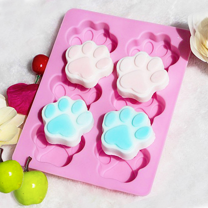 Growneer Cat Claws Mold Pink Food Grade Silicone Mould Fondant Baking Biscuits Cookies Bakeware Chocolate Cake Decorating Tools