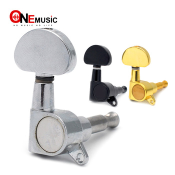 6pcs/lots Chrome Black Gold Grover Style Guitar String Tuning Pegs Keys Tuners Machine Heads for Acoustic Electric Guitar image