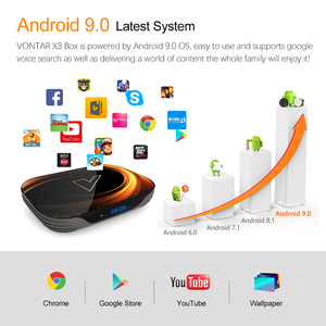 Image 3 - 2020 VONTAR X3 TV BOX Android 9 4GB 128GB 8K Amlogic S905X3 Dual Wifi 1080P 4K Youtube Android 9.0 Set Top Box 4GB 64GB 32GB