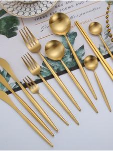 Knife Spoons Forks-Knives Cutlery-Set Chopsticks-Set Dinner-Dinnerware-Set Stainless-Steel
