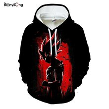 Herren Schwarz Rot Hoodies Marke Dragon Ball 3D gedruckt Hoodie Sweatshirts 2019 Frauen Hoodie Anime Casual Trainingsanzüge Samt Mit Kapuze(China)