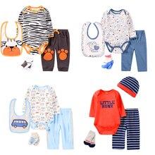 Bodysuits Baby-Boy-Clothing-Sets Summer Newborn Costume Pants Outfits-Set 4pcs Socks