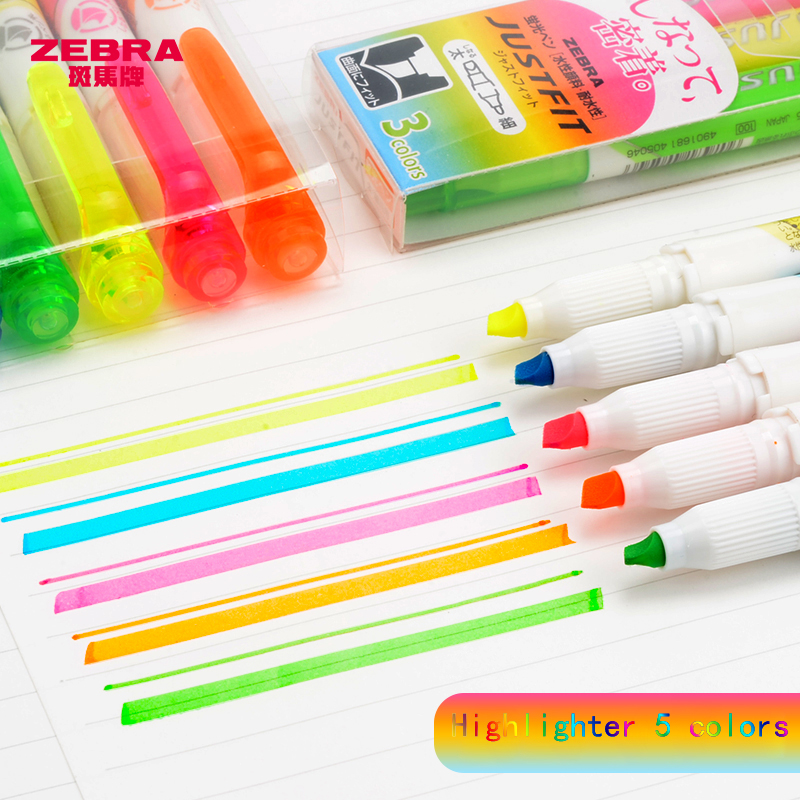 Closeout DealsⁿPen Marker-Marker ZEBRA with Soft-Tip WKT17 Highlighter Double-Head Japan Student▐