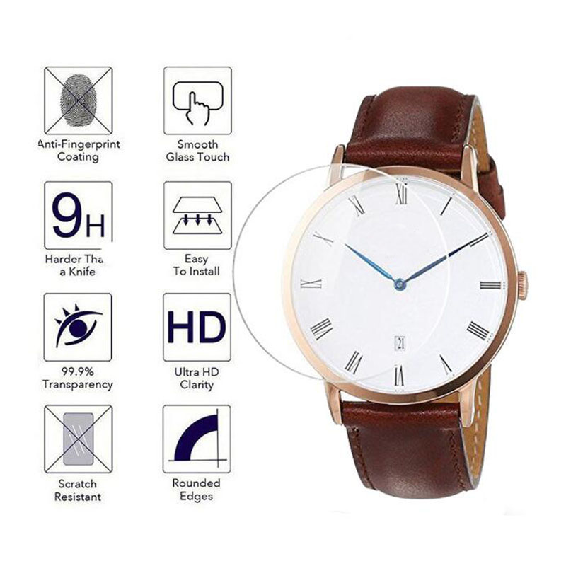 Tempered Glass Protective Film Guard For Daniel Wellington DW Watch Screen Protector Cover Diameter 32mm 34mm 36mm 38mm 40mm