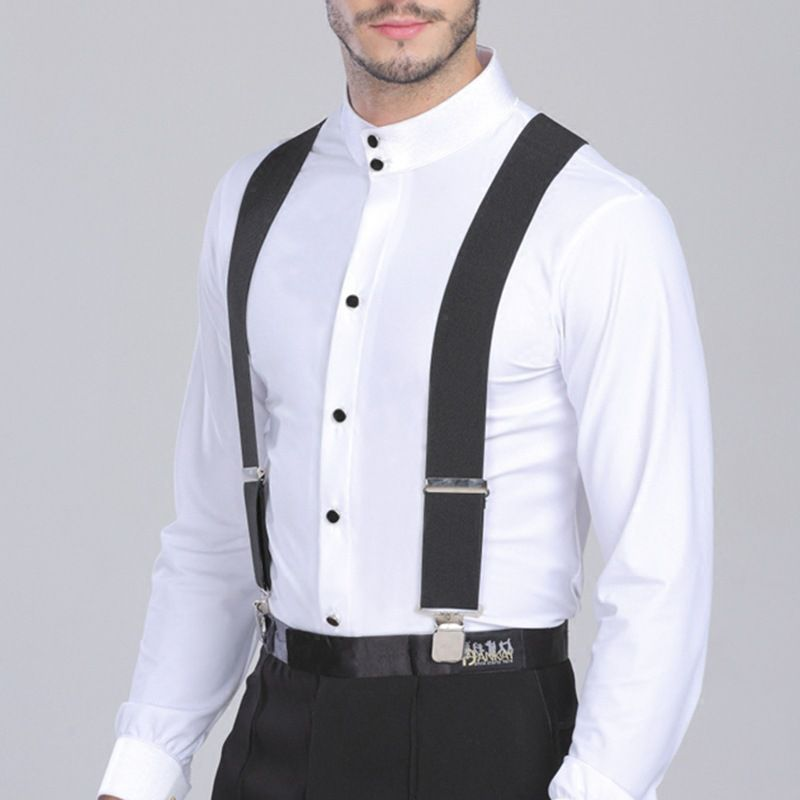 Plus Size Suspenders For Heavy Duty Men Pants With 4 Strong Clips 5cmWide Elastic Adjustable Braces With X-Back Trousers Strap