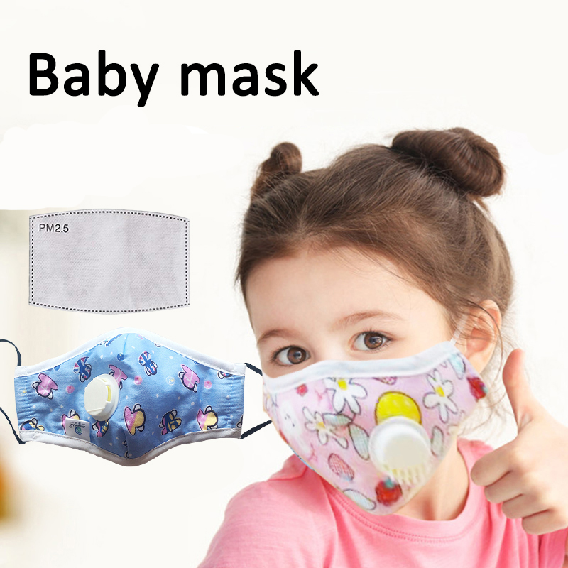 Baby Child Face Mask Anti-virus Mask With Breath Valve Anti-fog Haze PM2.5 Dust Mask Face Mask Respirator Маска Маски