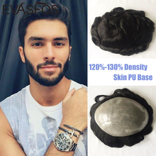 Toupee Human-Hair-Replacement-System Pieces Hairline Thin-Skin Natural Men's Real