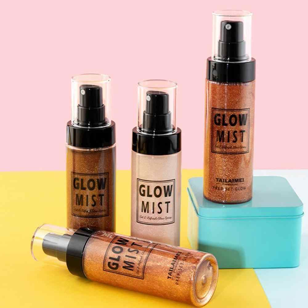 Shimmer Tubuh Luminizer Bronzer Highlighter Cair Setting Spray Mencerahkan Sorot Makeup Highlighter