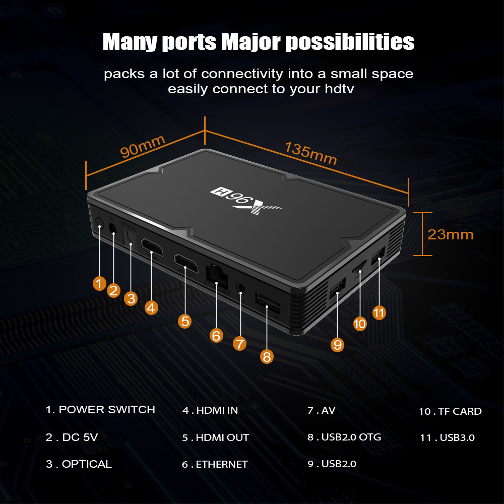 X96 H mini Smart Tv Box Android 9.0 IPTV Set Top Box 6K 2gb 4gb 16gb 32gb 64gb Quad Core media player PK HK1 MAX H96 A95X