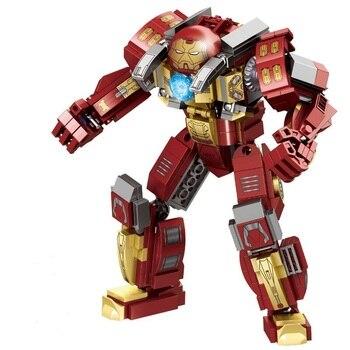Hulkbuster Smash-U Building Blocks Compatible Marvel Endgame Super Heros Buster Iron Man Infinity War Toys for Children