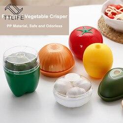 Do kuchni do jedzenia pojemniki na warzywa Crisper cebula czosnek awokado pomidory cytryna zielony pieprz pudełko do przechowywania świeżych produktów Drop Shipping|Butelki  słoiki i pudełka|   -