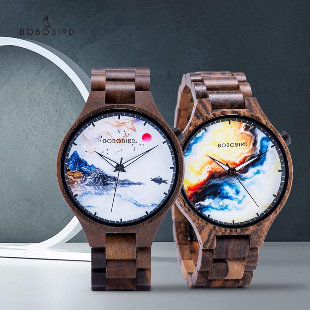 Reloj Hombre BOBO BIRD Wood Watch Men Limited Dial Male Quartz Wristwatch Casual Luxury Wooden Strap Gift For Him часы мужские