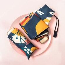 Small Pocket 5 FoldingSunshade Sunny Umbrella Women Sun Protection UV Portable Compact Folding Size