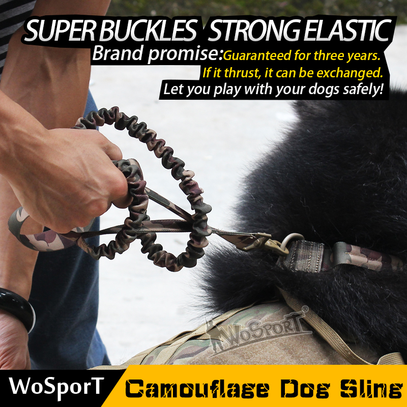 Wosport Hot Pet Sling Tactical Travel Carrying Outdoor Dog Rope Hiking Mountain Climbing Nylon Durable Adjustable Camo Rope