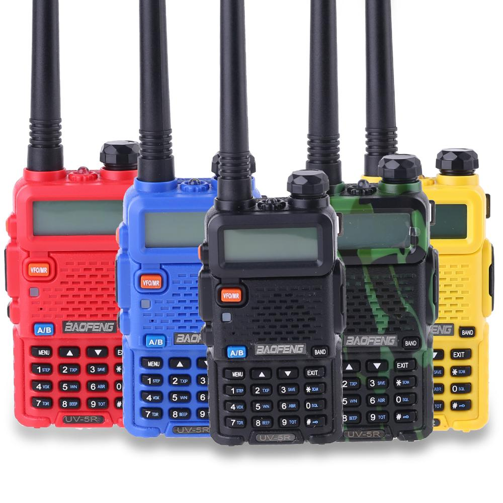Outdoor UV-5R Walkie Talkie Professional CB Radio Station Baofeng UV5R Transceiver 5W VHF UHF Portable UV 5R Hunting Ham Radio