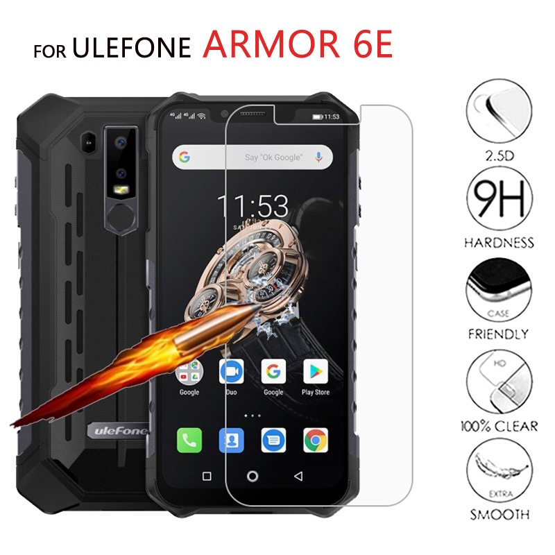 "2PCS Glass For Ulefone Armor 6E Tempering Glass Phone 6.2"" Screen Protector Scratch Proof LCD Film For Ulefone Armor 6 E Cover(China)"