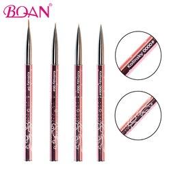 BQAN-pinceaux de peinture à ongles, pour Nail Art, stylo pur fleur de Sable de Kolinsky, stylo de manucure 0 #/00 #/000 #/0000 #, 10 pièces