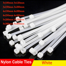 Fastening-Tie-Strap Cable-Hardware Wire-Zip-Ties Nylon-Cable Plastic Self-Locking 100pcs