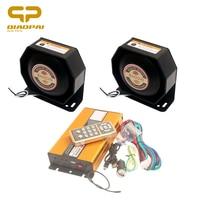 Super Loud Multi-tone Claxon Horns Police Siren Loudspeaker 400W Speaker Wireless Remote Control Megaphone 12V Car Horn Alarm