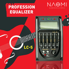 NAOMI Guitar Pickup LC-5 5 Bands EQ Equalizer Acoustic Guitar Preamp EQ Equalizer Tuner Piezo Ceramic Pick-up(China)