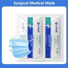 Máscara descartável descartável da boca da cara da máscara médica filtro não tecido anti máscara descartável 3-camadas adulto protetor