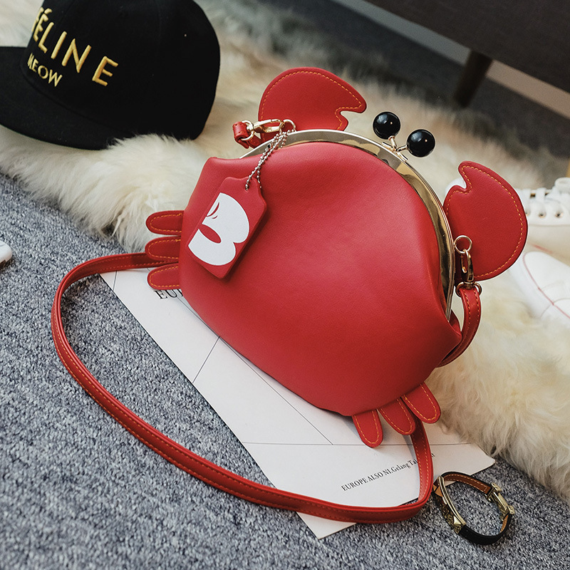 2020 New Women's Bag Cool Cute Ear Clip Bag Fashion Messenger Bag Crab Portable Small Bag