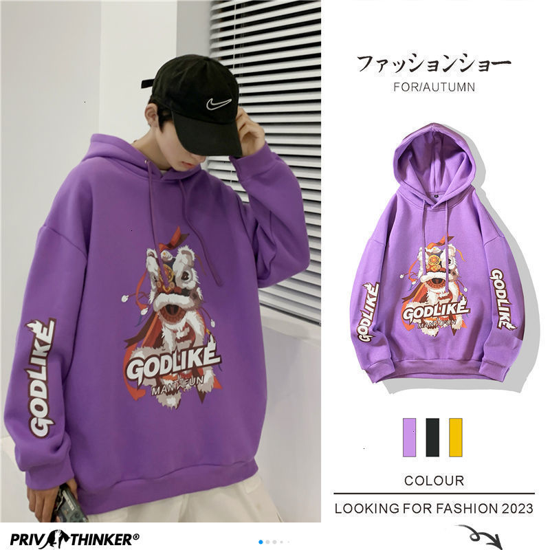 Privathinker Japanese Men Hoodies Funny Printed Man Casual O neck Sweatshirts Autumn 2020 Streetwear Men Pullovers Tops 5XL