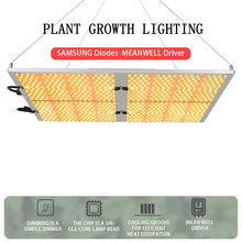 Atenuable 480W Led crece la luz de espectro completo Quantum Board IP65 plantas de interior SAMSUNG diodos MEANWELL Driver Growing Lamps(China)