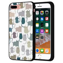 Kawaii Cat proste pociągnięcia etui na telefon dla Iphone 11 12 Pro MAX przypadki Iphone 7 8 Plus X XS XR przypadki miękka TPU telefon tylna okładka tanie tanio CN (pochodzenie) Bumper Non-slip Apple iphone ów IPhone 3G 3GS Iphone 4 IPHONE 4S Iphone 5 Iphone5c Iphone 6 Iphone 6 plus