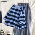 T-shirts Frauen Gestreiften Großen Größe 2XL Sommer Koreanischen Stil Lose Studenten Kurzen Ärmeln Alle-spiel BF Paare Trendy Streetwear