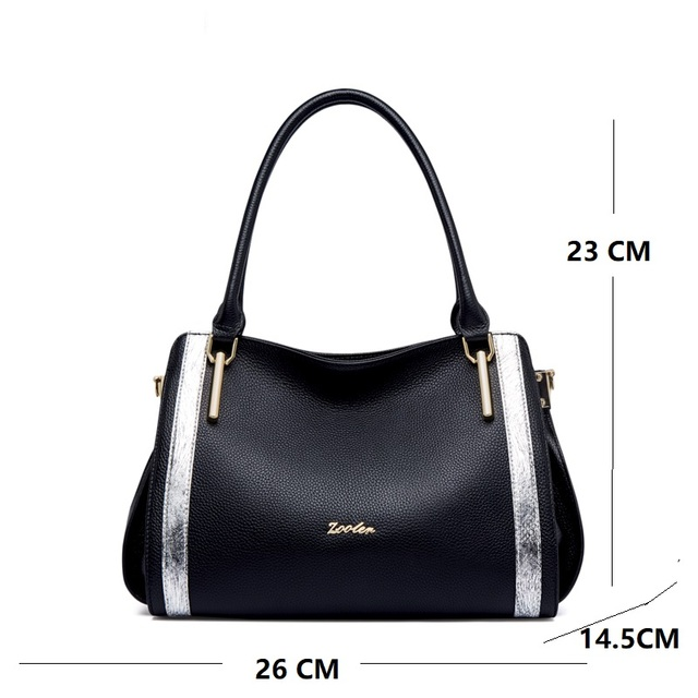 Quality ZOOLER New Designed First layer Genuine Leather Bag Women Leather Handbags Fashion Luxury Shoulder Bag Ladies Tote#WG219