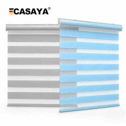Envío Gratis doble capa tela de persiana de cebra insertada cubierta de polvo día y noche persianas enrollables para tamaño personalizado
