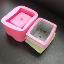Book Shape Flowerpot Silicone Cement Mold for Home Hotel Roo