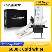 NOVSIGHT Fog Lights H7 Led H1 H3 80W 2000LM 6000K Car Lamps 12v Auto Headlight Car Accessories Headlamp