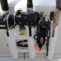 Barco marinho iate caiaque de pesca vertical 3 link haste titular organizador pólo tubo suporte montagem soquete rack isca alicates armazenamento