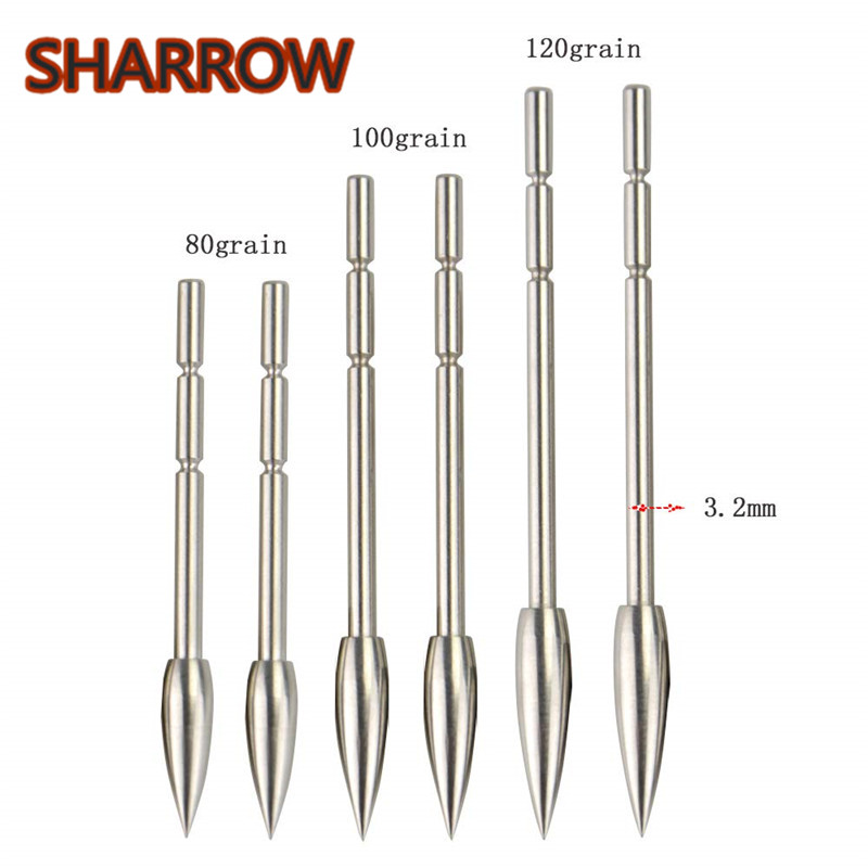 12pcs Archery Arrowhead Hunting Insert Arrow Point Tips Practice Broadhead Fit ID3.2mm Arrow Shaft Training Shooting Accessories