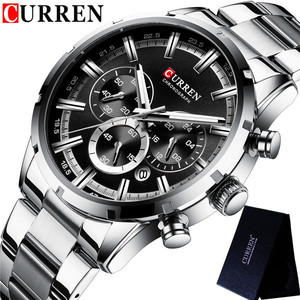 Image 4 - CURREN Sport Man WristWatch Calendar Chronograph Men Watch Military Army Top Brand Luxury Stainless Steel Casual Male Clock 8355