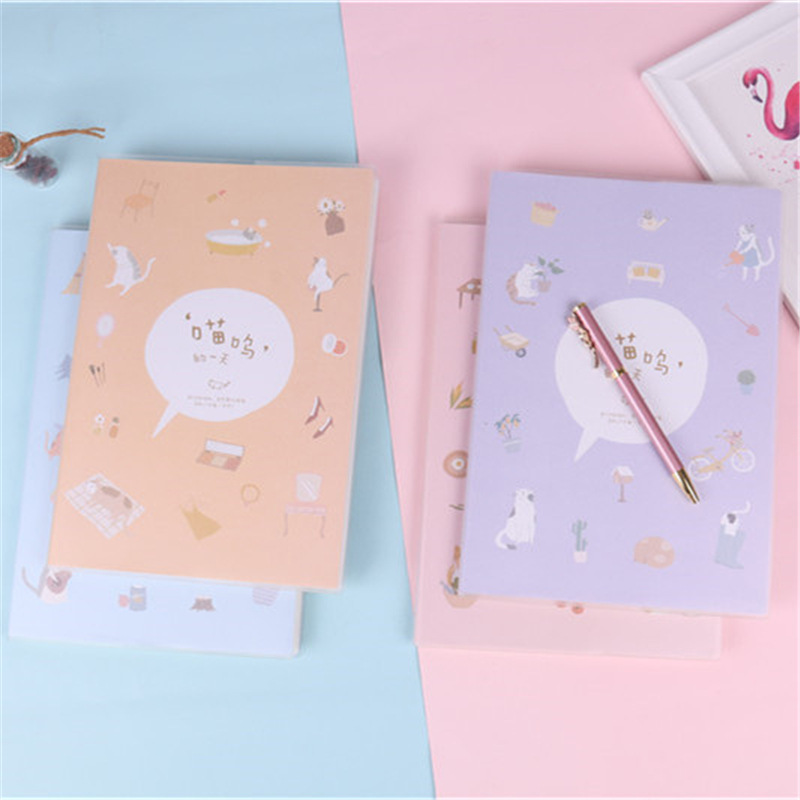 Joytop Meow Day B5 Plastic Cover Notebook Playful Cute Simple Generous Soft Copy Notebook Wholesale Customizable