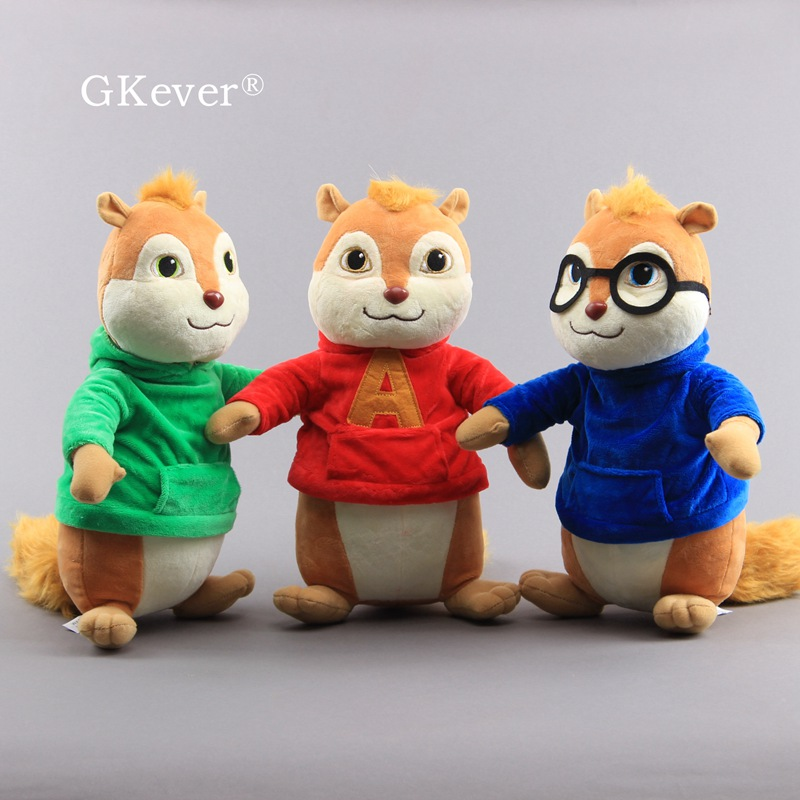 22 And 32cm Movie Alvin And The Chipmunks Plush  Toys Doll Peluche Stuffed Animals Toys 3 Colors Women Kids Birthday Gift
