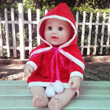 2Pcs Doll Christmas Outfit Suit Cloak Tops For 50cm Reborn Baby Girl Dolls Baby Doll Accessories Baby Born Doll Clothes